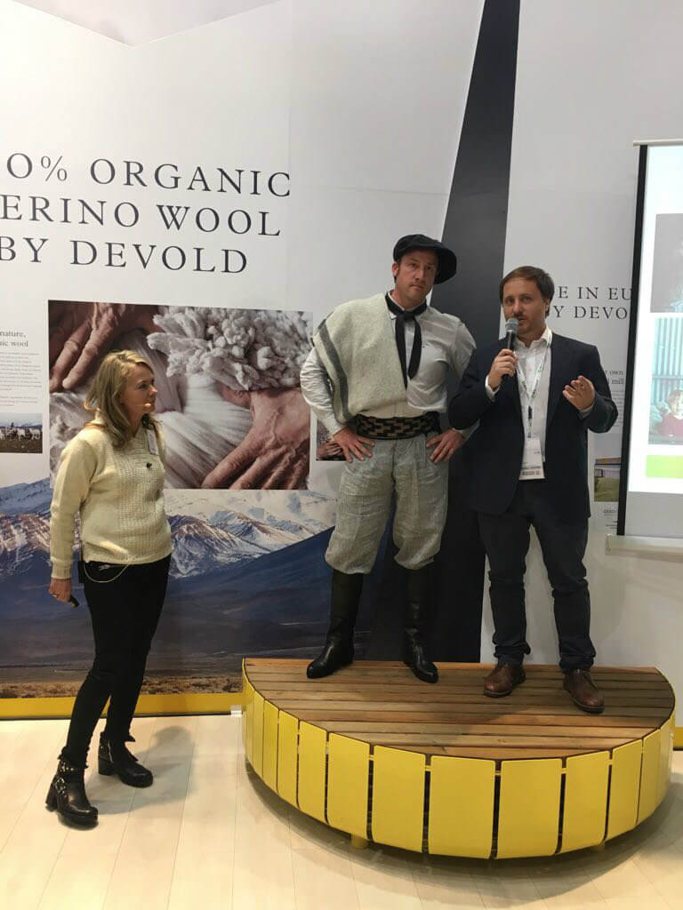 Devold Press Conference with Fuhrmann at ISPO 2018