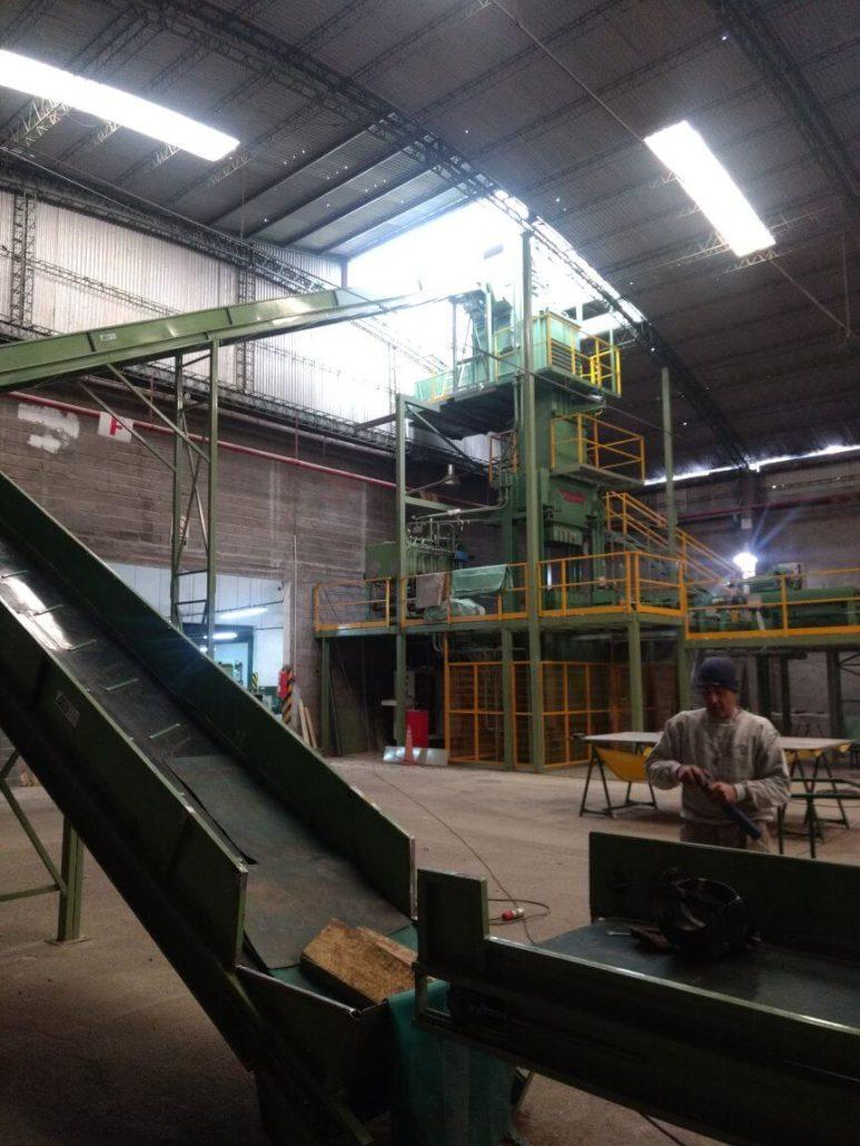 Wool Bale Press at Fuhrmann Warehouse