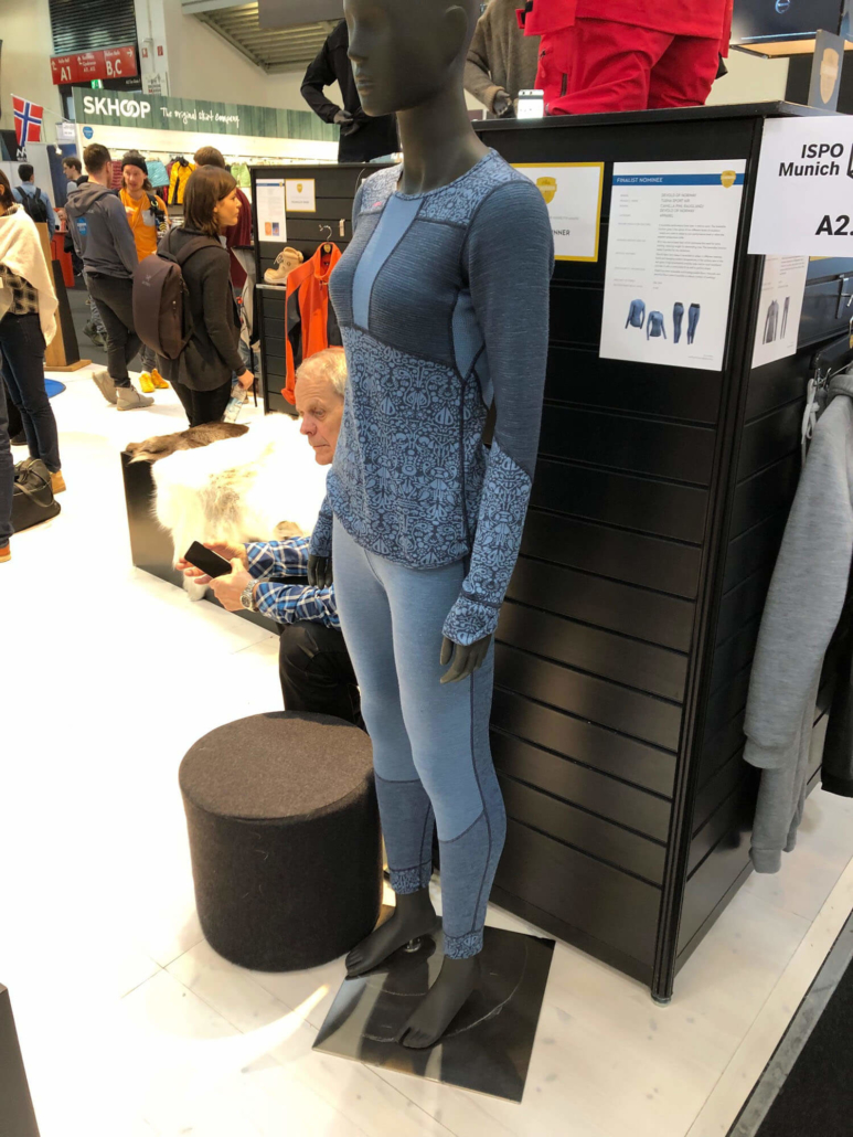 Devold merino wool reversable base layers at ISPO 2019
