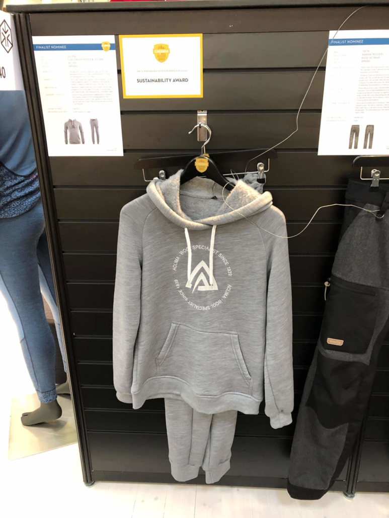 Aclima Wool hoodie and trousers at ISPO 2019