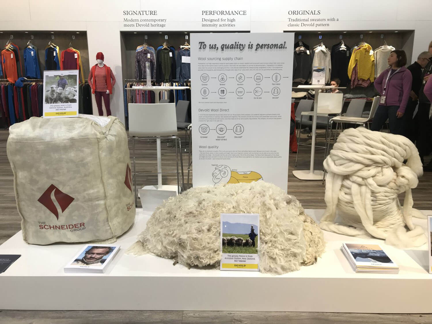 Devold Stand at ISPO 2019